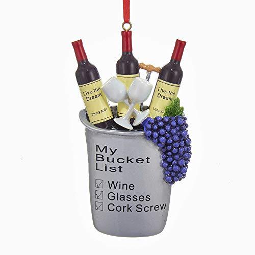 "Kurt Adler Wine ""My Bucket List"" Christmas Ornament"