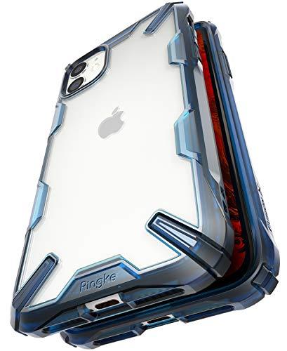 Ringke Fusion-X Kompatibel mit iPhone 11 Hülle, Transparent Rückseite mit Verbesserter TPU Silikon Rahmen Schutz für iPhone11 (6,1 Zoll) - Space Blau