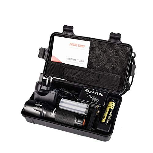 Taschenlampe Outdoor, OVERMAL 6000lm X800 taktische Taschenlampe L2 LED Militär Taschenlampe Kit