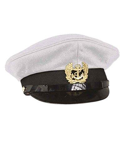 Mil-Tec Marine Schirmmütze m. Abz. weiß Gr.57