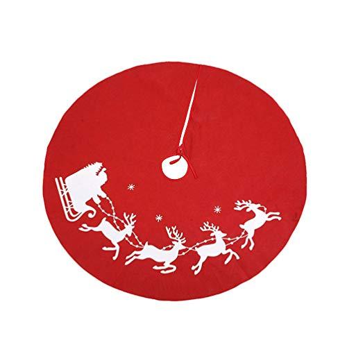Holibanna stuoia Gonna Albero di Natale Decorazione Festa di Natale Ornamenti di Natale 80 cm