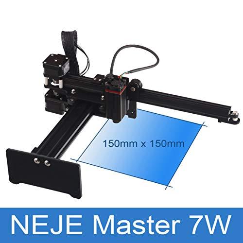 Garciadia NEJE Master 7000mW Micro Laser Engraver Graviermaschine Router Cutter Drucker für Metall/Hartholz/Kunststoff (Farbe: Schwarz)