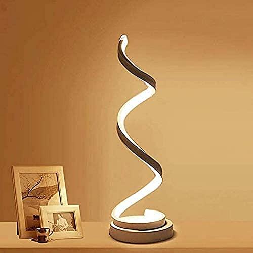 SpiceRack Accesorios para lámpara de Mesa, lámparas de Noche LED en Espiral, protección Ocular Blanca cálida de 12 W, Brillo Continuo Regulable, lámpara de Mesa LED Curvada/lámpara de escr