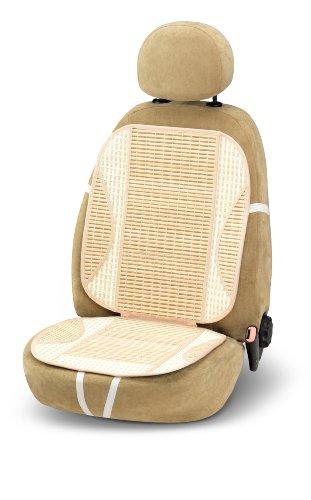 Bottari 12150 Schienale Estivo per Auto Wood in Fibra Naturale di bambù, Beige