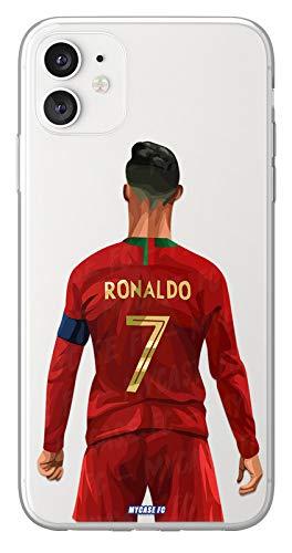 MYCASEFC - Cover Calcio Personalizzabile Ronaldo Portogallo Huawei P9 in Silicone Custodia di Calcio per Smartphone Personalizzata e Made in France in France in TPU
