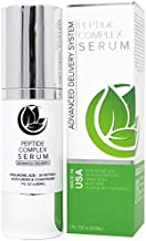 Peptide Complex Serum by Microderm GLO - Best Skin Toning, Facial Tightening, 100% PURE & NATURAL, Plump, Hydrate & Nourish Your Face, Boosts Collagen & Heals Skin While Improving Tone & Texture, 1oz