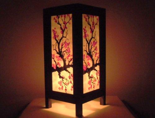 Seltene Asiatische Orientalisch Vintage Möbel Thai handgefertigt Buddha Stil Lampe Nachttische Japanese Sakura Zuhause Schlafzimmer Dekor Wohnkultur In Thailand
