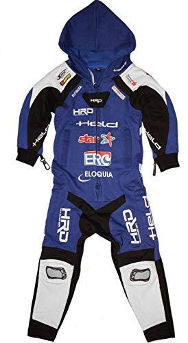 Held Slade Jumpsuit Youth Overall voor kinderen, zwart/blauw, 164