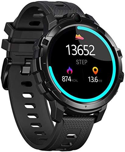 Fitness Smart Watch 1.6 pulgadas IPS pantalla táctil completa 4+64 GB memoria 5MP+5MP cámaras 830Mah batería multi deportes modos pulsera negro-negro