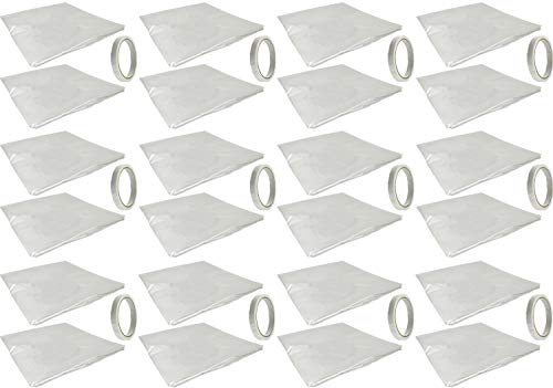Set of 12 Window Insulation Kits - Great for Windows & Doors - Seals Out Drafts and Humidity! - Great for Lowing Your Energy Use! (12, Window Kits)
