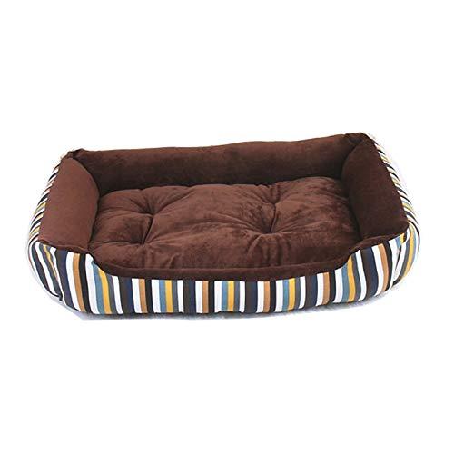 CHSDN Nueva Cama para Mascotas a Rayas para Perros y Gatos Grandes, medianos, pequeños y cálidos, Cama para Perros, sofá, Tumbona para Mascotas, Cachorro