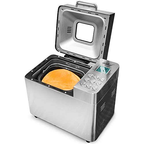 Deco Chef 2 LB Stainless Steel Bread Maker with 25 Smart Cooking Programs and Included Accessories,...