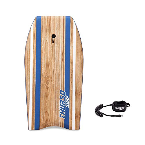 THURSO SURF Quill 42'' Bodyboard Package EPS Core IXPE Deck HDPE Slick Bottom Durable Lightweight Includes Double Stainless Steel Swivels Coiled Leash