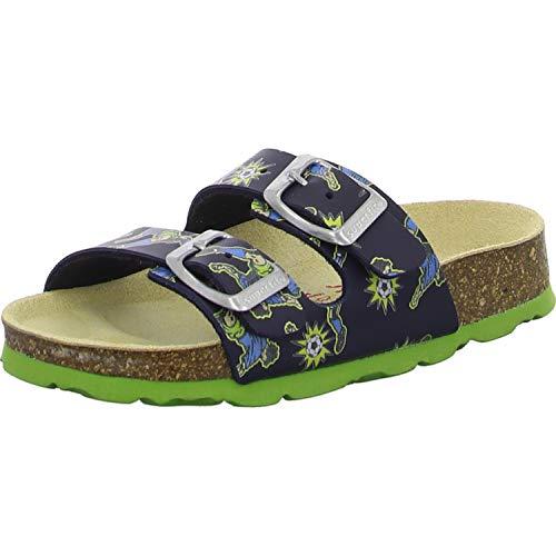 Superfit Jungen Fussbettpantoffel Pantoffeln, Blau (Blau 81), 32 EU