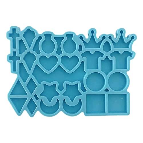 Dedepeng Molde de silicona para pendientes con forma de resina, pequeños pendientes de silicona, joyas de resina epoxi, manualidades