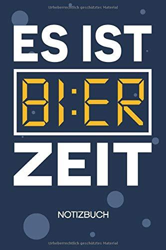 NOTIZBUCH A5 Blanko: Trinker SKIZZENBUCH - 120 Seiten für Notizen Skizzen Zeichnungen - Junggesellenabschied Notizheft Bier Uhr - Saufen Geschenk für Biertrinker Bierliebhaber Säufer