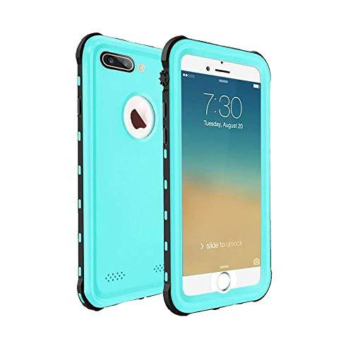 Custodia Impermeabile iPhone 7 Plus, Cover iPhone 8 Plus, IP68 Certificato Antiurto Subacquea Caso Full Protezione Case Protettiva Waterproof Cover per iPhone 7/8 Plus(5.5 inch) - Blu