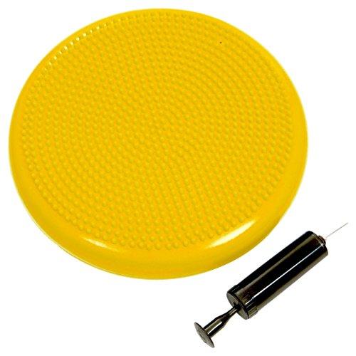 ScSPORTS Ballsitzkissen mit Pumpe, Rückentraining & Koordinationstraining, Balancekissen für Pilates, Ø 34 cm (gelb)