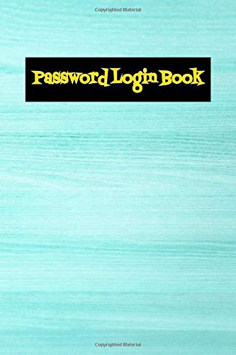 Password And Login Book: Password Manager Size 6x9