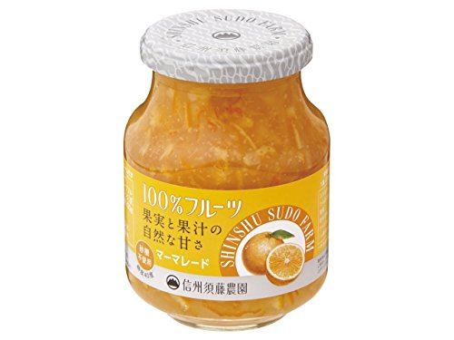 信州須藤農園 砂糖不使用 100%フルーツ マーマレード 190g