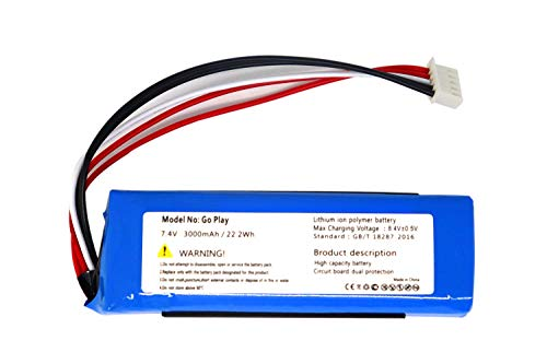 Onlyguo 7.4V 3000MAH 22.2WH Go Play Speaker Battery de Repuesto para Harman Kardon CP-HK06 GSP1029102 01