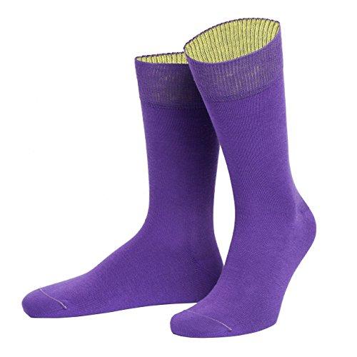 von Jungfeld Herrensocken Valence Purple, Size:45-47
