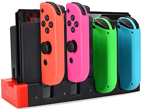 Joy-Con Charging Dock, Nintendo Switch Joy Con Controllers Charging Dock, Support 1-4pcs Joy Con, Charger Stand Station with Individual LED Indicator for Nintendo Switch Joy-Con
