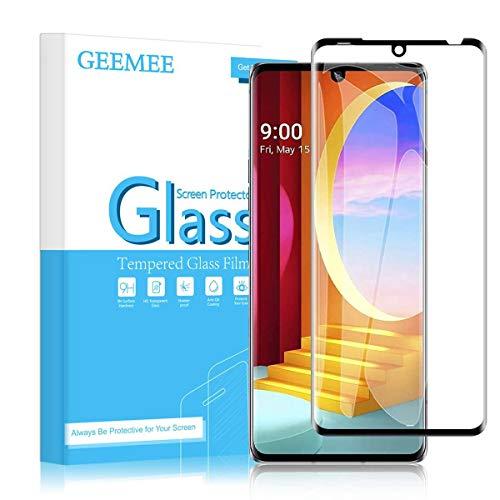 GEEMEE für LG Velvet 5G Panzerglas Schutzfolie, 9H Festigkeit Anti Fingerprint Gehärtetem Schutzglas Hohe Empfindlichkeit Panzerglas Bildschirmschutzfolie