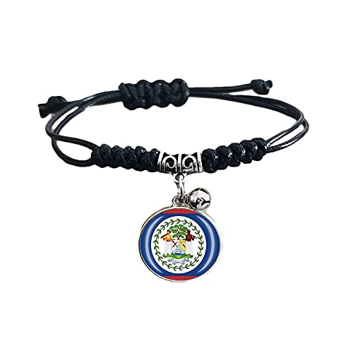 Pulsera de la bandera nacional de Belice, regalo de recuerdo de viaje, pulsera colgante para hombres y mujeres