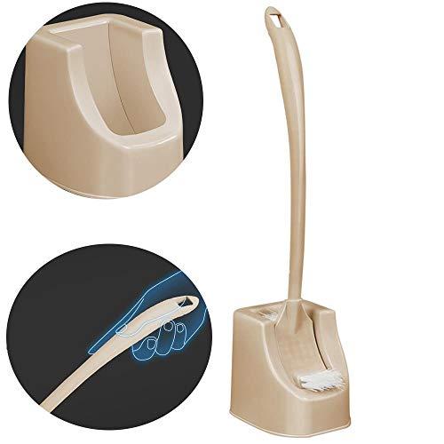 XJAXY Escobilla De BañO, Juego De Cepillos De Limpieza para Inodoros, Cepillo para Labios Debajo del Borde Y Carrito De Almacenamiento para BañO