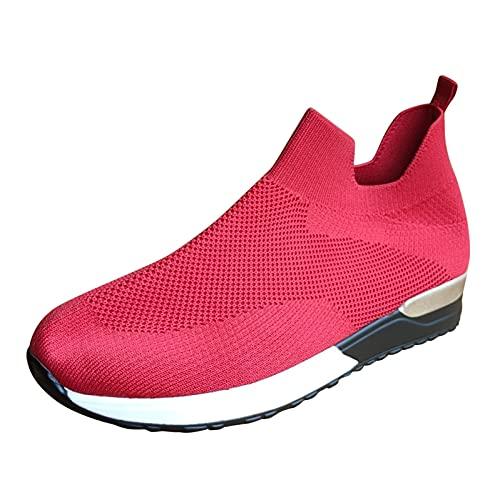 YWLINK Malla Para Mujer Hombres Zapatos Casuales Ligeros Zapatillas Deportivas Corriendo Transpirable Ciclismo El FúTbol MontañIsmo Viajes Al Aire Libre Yoga,Zapatillas De Running Con Suela Blanda