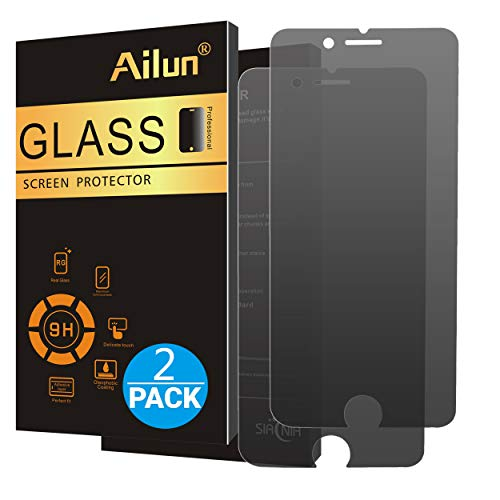 Ailun Privacy Screen Protector Compatible with iPhone 8 Plus 7 Plus 2Pack Anti Spy Anti Glare Japanese Glass 0.25MM Tempered Glass