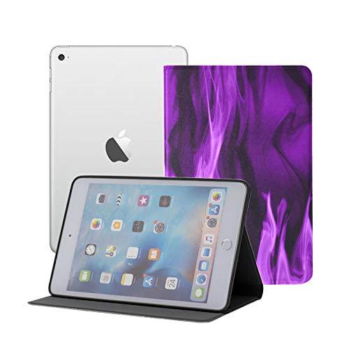 KidsMiniIpadCovers Smoke Flame Abstract Purple Art IpadMini7.9InchCase Ipad Mini 1/2/3 Auto Sleep/Wake with Multi-Angle Viewing for Ipad Mini 3/ Mini 2/ Mini 1