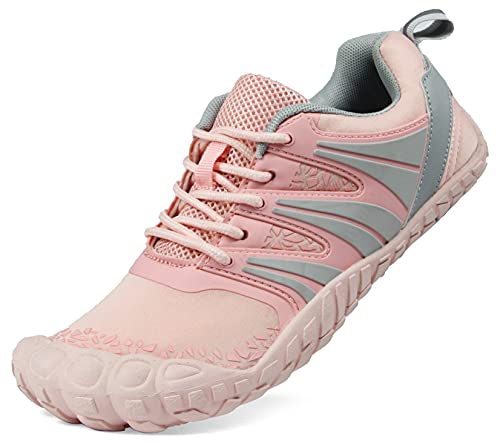 Oranginer Women's Flexible Barefoot Shoes Zero Drop Minimalist Running Shoes Outdoor Trail Running Shoes Treadmill Shoes for Women Walking Jogging Hiking Climbing Workout Fitness Pink Size 8