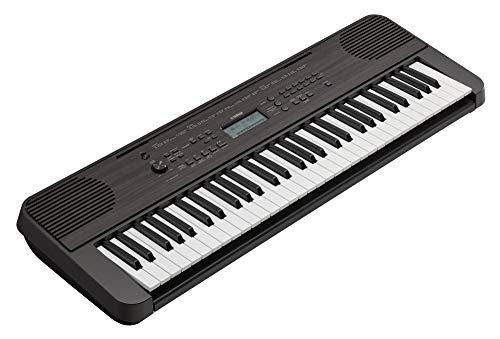 YAMAHA Digital Keyboard PSR-E360DW, Tastiera Digitale Portatile Ottima per Principianti, Design Compatto ed Elegante, con 61 Tasti Sensibili al Tocco e Funzioni di Apprendimento, Nero Acero
