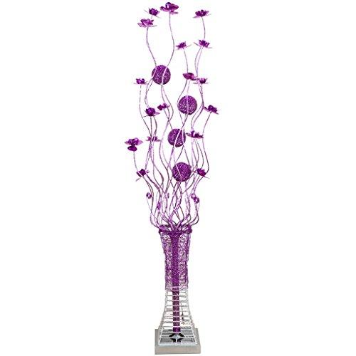 TangMengYun Moderne LED Stehlampe, Aluminium Kunst Standard Lampe für Esszimmer Wohnzimmer Schlafzimmer Nachttischlampe, lila Stehleuchte (20 * 150 cm)