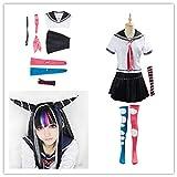 Anime Super Dangan Ronpa 2 Danganronpa Ibuki Mioda Cosplay disfraces traje falda Halloween para mujeres hecho a medida
