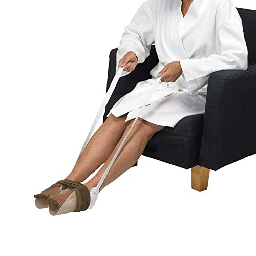 Homecraft Dorking Tights Aid, Retail (Eligible for VAT relief in the UK), Put On Without Bending, Double Gutter Stocking Aid, Assistive Dressing Helper, Elderly, Disabled, Handicap, Surgery Recovery