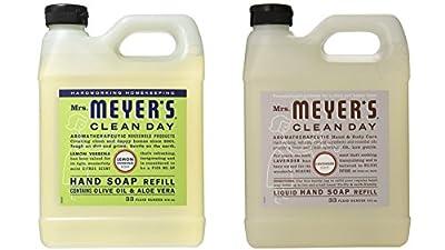 Mrs. Meyers Liquid Hand Soap Lavender & Lemon Verbena, 33 Oz Refill (Each)