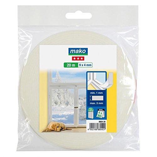 PE Schaumstoff Dichtung für Fenster Tür 9 mm x 4 mm x 20 m weiß