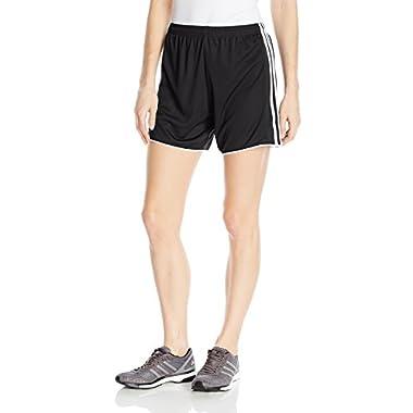 adidas Women's Soccer Tastigo 17 Shorts, Black/White, Large