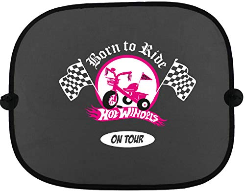 BORN TO RIDE Hot luiers on Tour auto zonwering voor kinderen