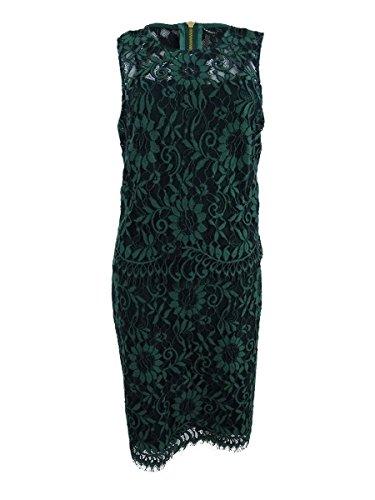 Calvin Klein Women's Lace Popover Sheath Dress (12, Cypress)