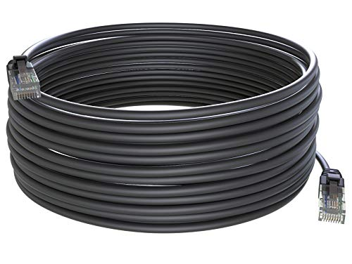 Maximm Cat6 100 ft Ethernet Cable Outdoor 100 Feet (30 Meters) Zero Lag Waterproof Internet Cable Suitable for Direct Burial Installations.