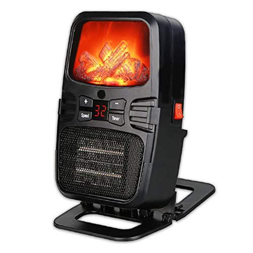 LTLJX Calefactor Eléctrico, Mini Calefactor Portátil, Ventilador de Aire con Mando a...