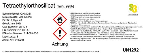 S3 Chemicals Tetraethylorthosilicat (min. 99%) Gebindegröße 100ml