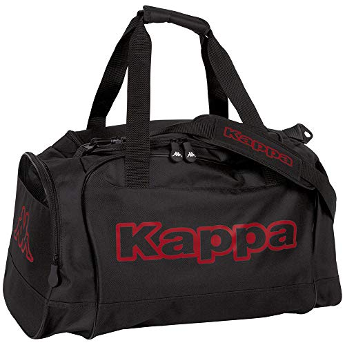 Kappa Tomar Sports Bag Black I Training Bag with Dry Compartment and Shoe Compartment I for Men and Women Size 60 cm x 30 cm x 39 cm