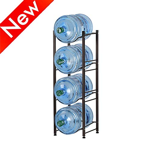 Nandae Water Cooler Jug Rack, 4-Tier Heavy Duty Water Bottle Holder Storage Rack for 5 Gallon Water Dispenser, Save Space
