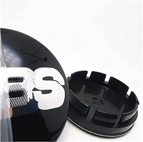 4 Piezas Tapas centrales, para BBS 16 inch Golf MK3 Tires Coche Central Llanta Rueda Cubre Embellecedor Insignia