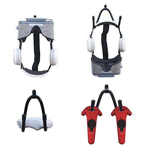 YYST VR Headset Storage Rack/Wall Bracket/Headset Wall Holder for VR Headset Helmet and Touch Controllers - No Headset or Controllers